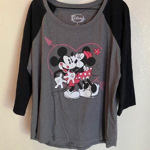 Torrid Disney Baseball Tee (Mickey & Minnie)